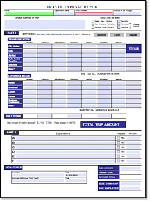 blank expense report form - Template