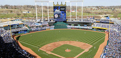 Kauffman Stadium is the home of the Kansas City Royals Baseball Team